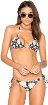Tori Praver Swimwear Kalani Bikini Top in Black. - size M (also in S,XS)