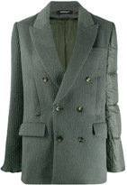 Undercover quilted-panel double-breasted jacket