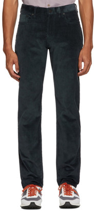 Paul Smith Blue Corduroy Tapered Fit Trousers