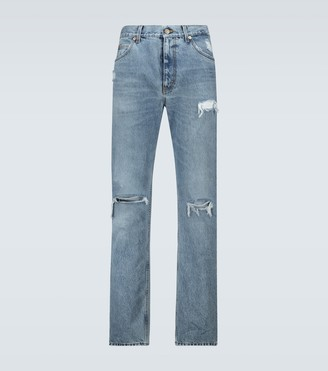 Gucci Distressed denim jeans