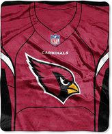 Northwest Company Arizona Cardinals Jersey Plush Raschel Throw