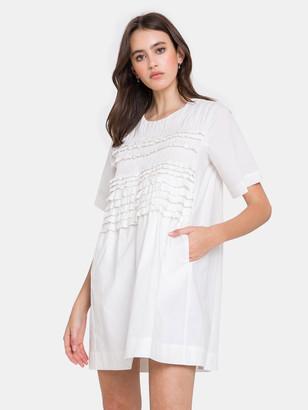 ENGLISH FACTORY Ruffle Detailed T-shirt Dress