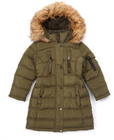 Bebe Olive Five-Pocket Hooded Puffer Coat - Toddler & Girls