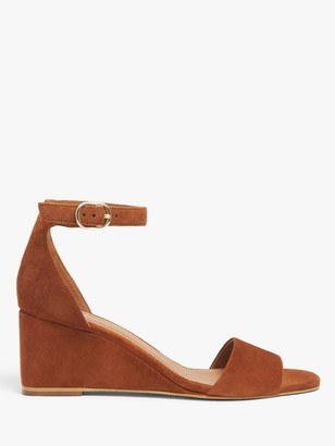 John Lewis & Partners Kendall Suede Wedge Heeled Sandals