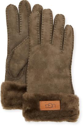 UGG Cuffed Sheepskin Gloves
