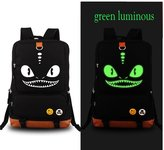 valoranshop Luminous in Dark Canvas Cartoon Bag Backpack Unisex How to Train Your Dragon Toothless/Night Fury Students Schoolbag Shoulder Bag Laptop Bag