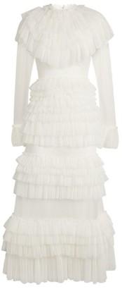 Sandra Mansour Tulle Midi Dress