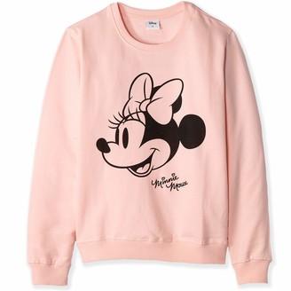 Disney Official Minnie Mouse Women's/Teenager's Ladies Cotton Sweatshirt - L Pink