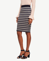 Ann Taylor Petite Checkered Jacquard Pencil Skirt