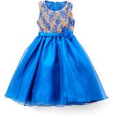 Royal Blue Rosette Dress - Infant Toddler & Girls