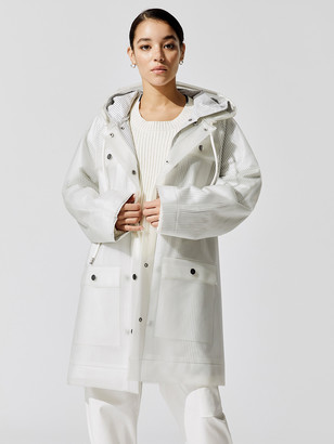 Proenza Schouler Belted Raincoat With Striped Lining
