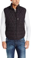 Andrew Marc Men's Fitch Polyfil Quilted Vest W/ Micro Suede Trim
