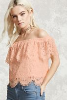 Forever 21 FOREVER 21+ Lace Off-the-Shoulder Top