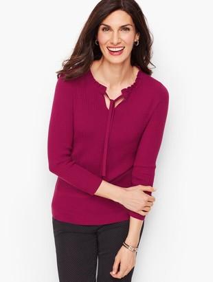 Talbots Tie Neck Sweater