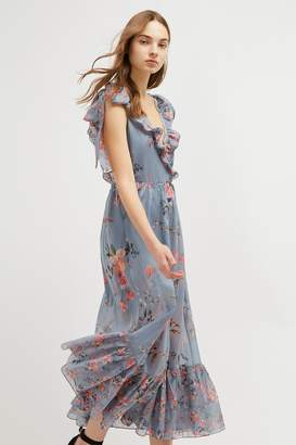 French Connenction Cecile Sheer V-Neck Maxi Dress