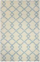 """Bashian Brothers Bashian Gramercy Passage Ivory/Blue 3'9"""" x 5'9"""" Area Rug"""