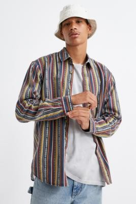 Urban Outfitters Multi-Stripe Twill Shirt - assorted S at