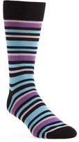 Lorenzo Uomo Men's 'Alternating Stripe' Socks