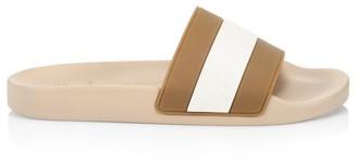 Brunello Cucinelli Two-Tone Rubber Slides
