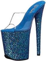 Pleaser USA Women's Flam801lg/Cforwardslashblg Platform Sandal