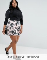 Asos Culotte Short In Soft Floral Print