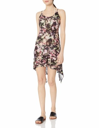 Lucky Brand Junior's Smokescreen Scarf Hem Swing Dress Cover Up