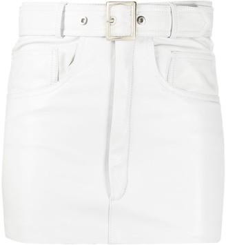 Manokhi Belted Leather Mini Skirt