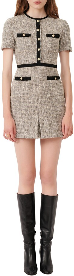 Maje Tweed Minidress