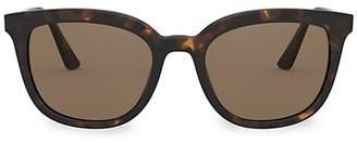 Prada 53MM Tortoiseshell Square Sunglasses
