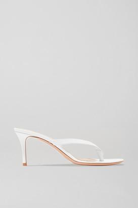 Gianvito Rossi Calypso 70 Leather Sandals - White