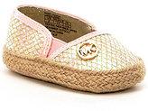 MICHAEL Michael Kors Girls' Baby Daria Metallic MK Ornament Slip On Crib Shoes