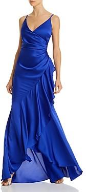Aqua Ruffled Wrap Gown - 100% Exclusive