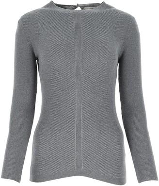 Alexander McQueen Rib Knit Long-Sleeve Top