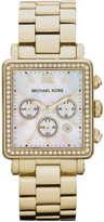 MICHAEL MICHAEL KORS Ladies' Hudson Goldtone Glitz Watch with Square Dial