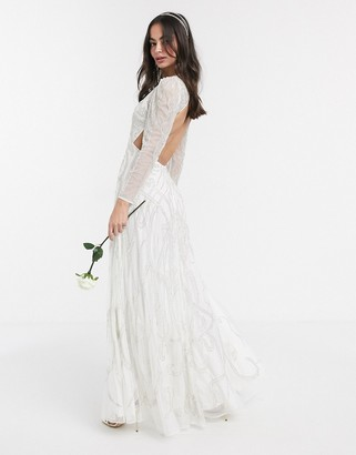 ASOS EDITION Charlotte nouveau embellished maxi wedding dress
