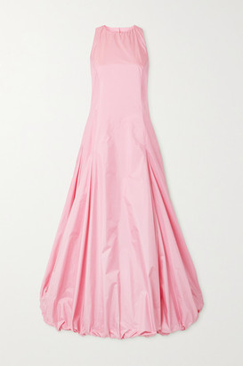 Renaissance Renaissance Juliet Open-back Ruched Silk-taffeta Maxi Dress - Baby pink