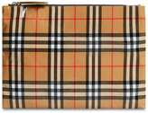 Burberry Coated Check Canvas Pouch