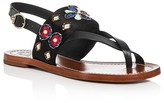 Tory Burch Estella Embellished Slingback Sandals