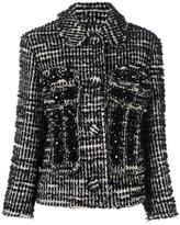 Simone Rocha woven cropped jacket