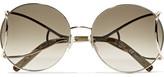 Chloé Jackson Round-frame Gold-tone Sunglasses - one size