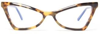 Marni Cat Eye Tortoiseshell Acetate Glasses - Womens - Tortoiseshell