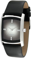 JCPenney Armitron Mens Black Leather Gray Degrade Watch