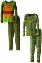 Nickelodeon Teenage Mutant Ninja Turtles Big Boys' Michaelangelo Costume 4-Piece Pajama Set, Multi