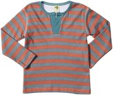 Kiwi Seymour Tee (Toddler/Kid) - Red Earth/Slate Stripe-2 Years