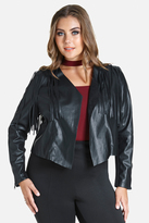 Fashion to Figure Angel Faux Leather Fringe Jacket
