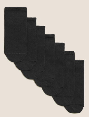 Marks and Spencer 7pk of Cotton Trainer Liner Socks