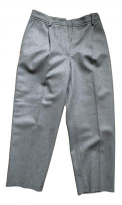 Acne Studios Grey Wool Trousers