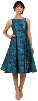 Adrianna Papell Jacquard Tea Length Party Dress