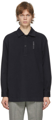 Dion Lee Navy Embroidered Logo Shirt