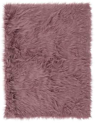 Pottery Barn Teen Furific Fur Throw, 45x60, Himilayan Gray